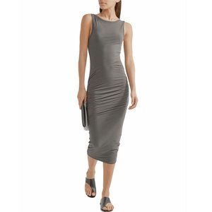 JAMES PERSE Ruched stretch-cotton jersey midi
